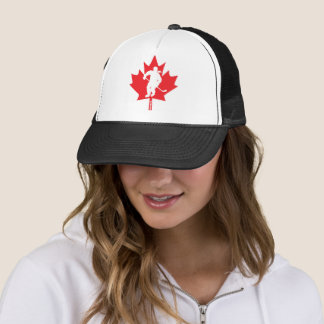 Women's Canada Hockey Maple Leaf Player Trucker Hat