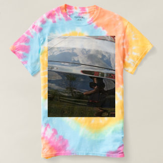 Women's car reflection tie-dye t-shirt 2