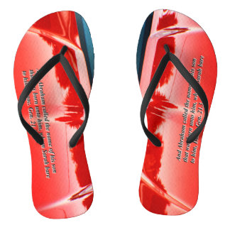 Women's car reflection with text flip flops