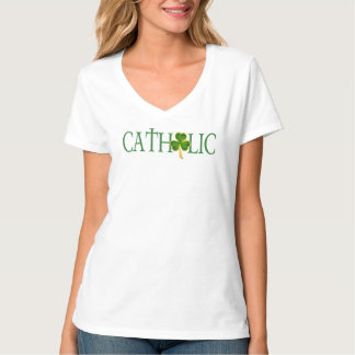 Women's  Catholic V-Neck T-Shirt