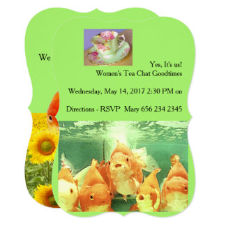 WOMEN'S CHAT GOOD TIMES FOR TEA GATHERING CARD