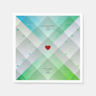 Women's Chic Birthday Party Contemporary Design Paper Napkin