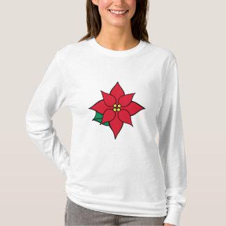 Women's Christmas Poinsettia Holiday T-Shirt