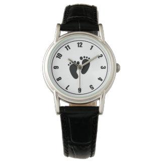 Women's Classic Black Leather Strap Watch