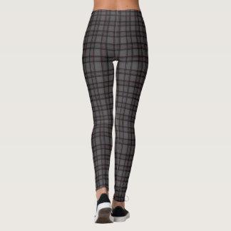 Women's Classic Gray Plaid Leggings Pants