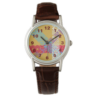 Women's Classic Watch with brown leather strap