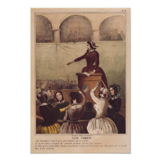 Women's Club, c.1848 Poster