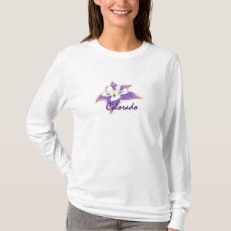 Womens Colorado Columbine flower hoodie