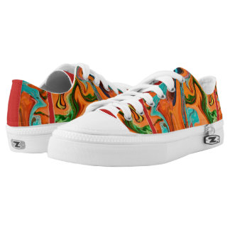 Women's Colorful Swirly Shoes