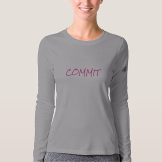 "Women's ""COMMIT"" Long Sleeve Fitness Shirt"