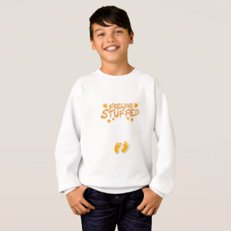Womens Cute Thanksgiving Maternity Feeling Stuffed Sweatshirt