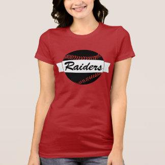 Women's Dark Black Baseball & Custom Text T-shirt