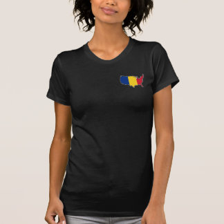 Women's Dark T-Shirt: Romanian in USA T-Shirt