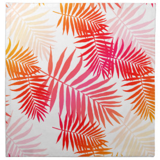 Women's Decor Palm Tree Leaf In Sunset Colors Napkin
