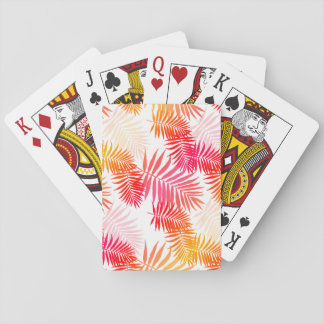 Women's Decor Palm Tree Leaf In Sunset Colors Poker Deck