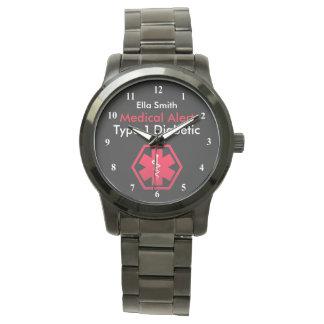 Womens Diabetes  Alert Type 1 or 2 Oversized Watch