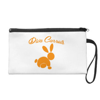 Womens Diva Carrots Wristlet