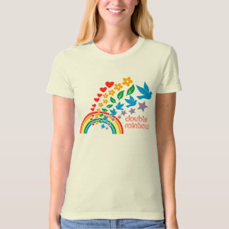 Women's Double Rainbow Organic T T-Shirt