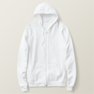 Women's Embroidered American Apparel Zip Hoodie