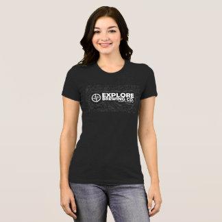 Women's Explore Brewing T-Shirt White Print