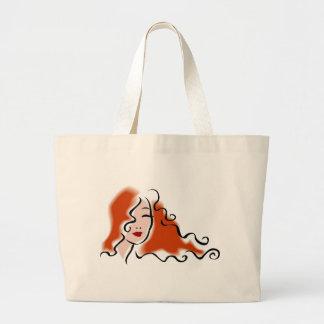 Women's Face Design Large Tote Bag