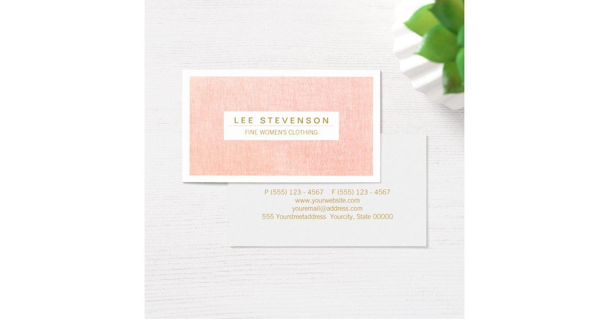 Women39s fashion boutique light pink feminine business card for Feminine business cards
