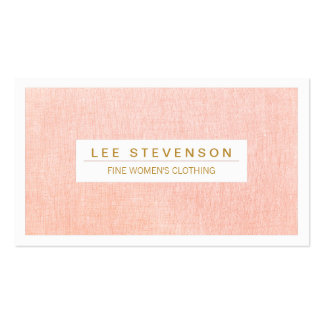 Women's Fashion Boutique Light Pink Feminine Pack Of Standard Business Cards