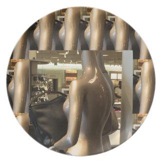 Women's Fashion Showroom Window Hand Bags shopping Plate