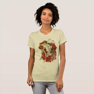 Womens fine Jersey t-shirt Indian Head dress
