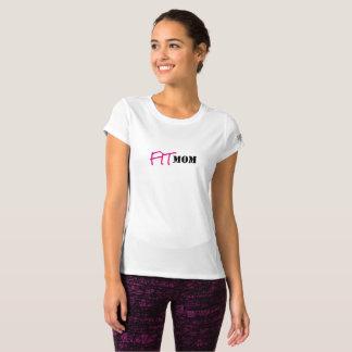 """Women's """"FITMOM"""" Short Sleeved Fitness Shirt"""