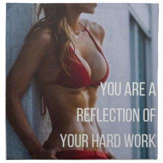 Women's Fitness Inspirational Words - Hard Work Napkin
