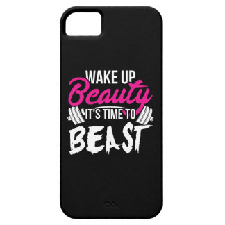 Women's Fitness - Wake Up Beauty, Time To Beast iPhone 5 Cover