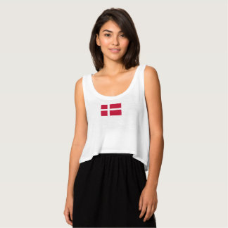 Womens Flag of Denmark Tank Top