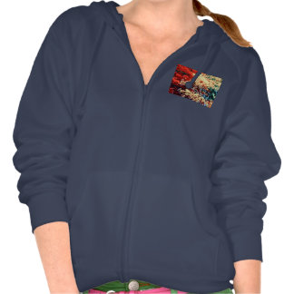 WOMEN'S FLEECE HOODIE SWEATSHIRT - AUTUMN TREES
