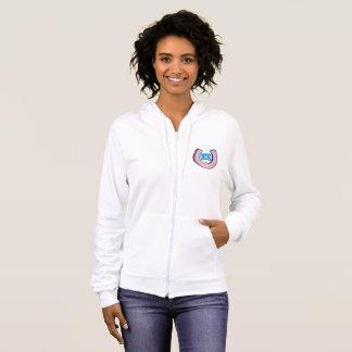 Women's  Fleece Zip Hoodie with Logo
