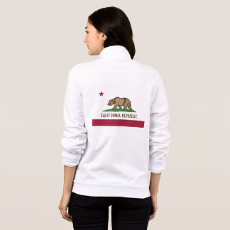 Women's  Fleece Zip Jogger flag of California, USA