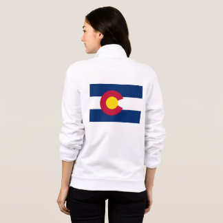 Women's  Fleece Zip Jogger flag of Colorado, USA
