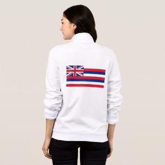 Women's  Fleece Zip Jogger flag of Hawaii, USA