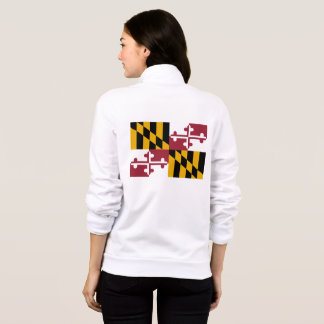 Women's  Fleece Zip Jogger flag of Maryland, USA