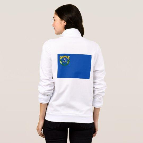 Women's  Fleece Zip Jogger flag of Nevada, USA