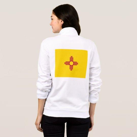 Women's  Fleece Zip Jogger flag of New Mexico, USA