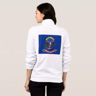 Women's  Fleece Zip Jogger flag of North Dakota