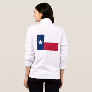 Women's  Fleece Zip Jogger flag of Texas