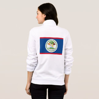 Women's  Fleece Zip Jogger with flag of Belize