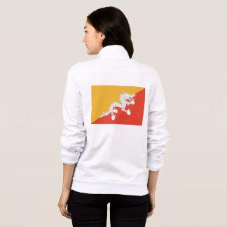 Women's  Fleece Zip Jogger with flag of Bhutan