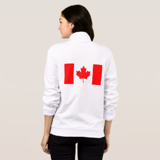 Women's  Fleece Zip Jogger with flag of Canada