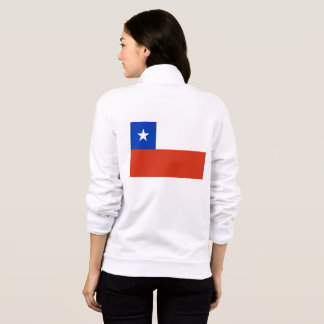 Women's  Fleece Zip Jogger with flag of Chile