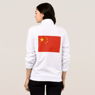 Women's  Fleece Zip Jogger with flag of China