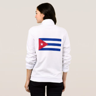 Women's  Fleece Zip Jogger with flag of Cuba