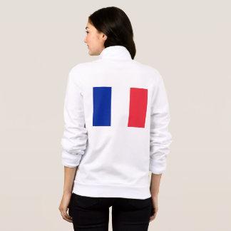 Women's  Fleece Zip Jogger with flag of France